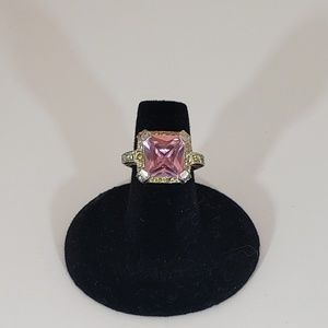 Pink Ice Gemstone Silver Ring 7